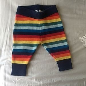 Rainbow Hanna Andersson knitted striped pants 60cm